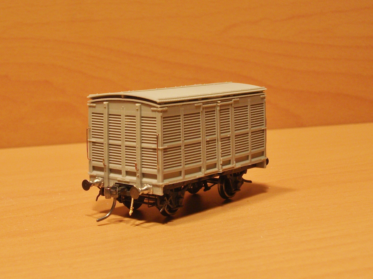 A model showing how the van would look when restored